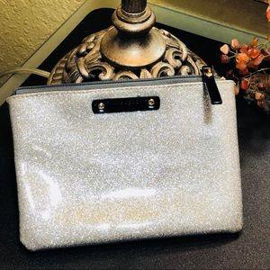 Kate Spade ♠️ Mini Pouch Sparkly Silver